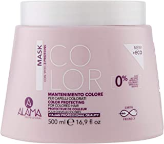 Alama Professional Color Maschera Mantenimento Colore per Capelli Colorati, Giallo, 500 Millilitri
