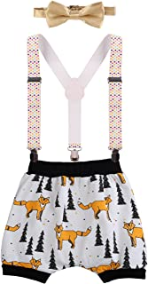 Baby Boys 1st Birthday Cake Smash Outfits Bloomer Y Back Suspender Harem Pants Bowtie Photo Props Outfits