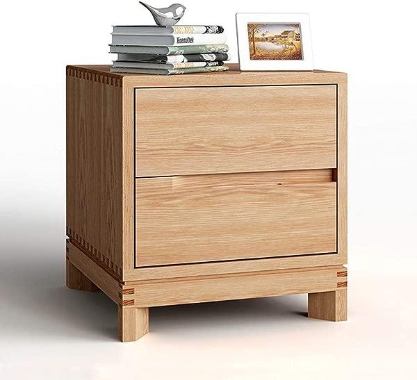 床头柜卧室家具床头柜简约实木床头柜现代木质彩色两个抽屉床头柜家具颜色自然尺寸 453848厘米