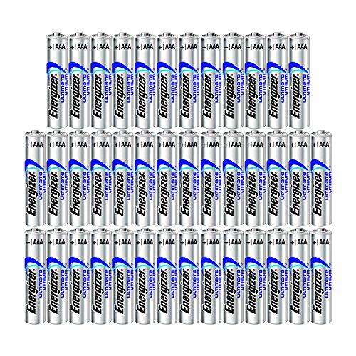 Energizer 40AAA Ultimate Lithium Long Lasting Leakproof Batteries