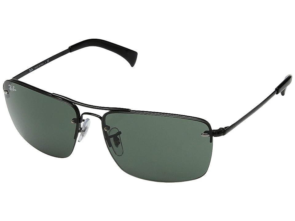 Ray-Ban RB3607 61 mm. (Black/Dark Green) Fashion Sunglasses