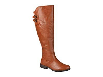 Journee Collection Tori Boot Extra Wide Calf (Chestnut) Women