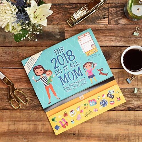 Orange Circle Studio 17-Month 2018 Do It All Magnetic Wall Calendar, Mom's Do It All