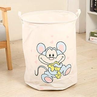 MJY Paniers à linge, Rat de dessin animé Panier à linge Panier à pique-nique Panier Boîte de rangement Support Super Grand...
