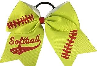 Infinity Collection Softball Hair Bows- 6.5