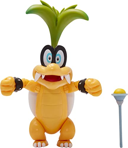 """lowest SUPER sale MARIO Collectible popular Iggy Koopa 4"""" Poseable Articulated Action Figure outlet sale"""
