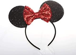 Red Mickey Ears Rainbow Minnie Mouse Sparkly