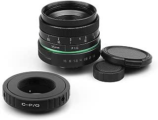 35mm F1.6 C-Mount APS-C Lens CCTV C Mount Lens + C Mount 16mm Adapter for Pentax Q Q-S1 Q10 Q7 Q Camera