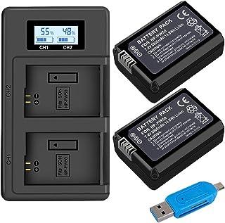 Juego de Cargador de Batería Palo NP-FW50 para Sony a7 a7 II a7R a7R II a7S a7S II A600 A6500 A6300 A55 A5100 (2-Pack 2000mAh Micro USB Input Charger Versatile Charging Option) Cargador