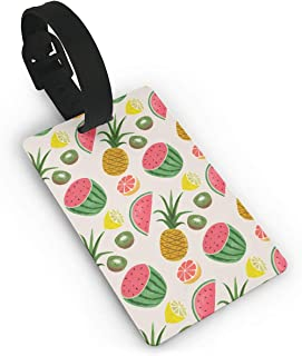 Kla Ju Luggage Tags Watermelon Pattern Suitcases Bags Name ID Labels Travel Accessories