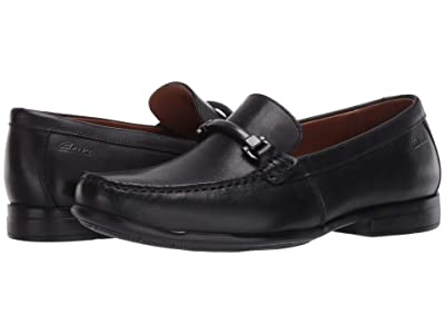 Clarks Claude Stride (Black Leather) Men