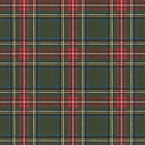 rasch Tapete 861730 aus der Kollektion b.b home passion VI – Karierte Vliestapete im schottischen Stil – Dunkelgrün, Rot, Gelb, Blau & Silber – 10,05m x 53cm (L x B)