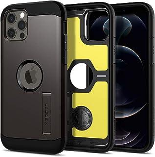 Spigen Tough Armor TPU; Poly Carbonate Back Cover Case Designed for iPhone 12/iPhone 12 Pro - Gunmetal