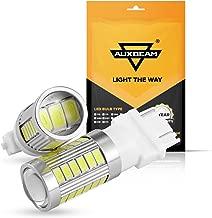 Auxbeam 3157 LED Light Bulbs T25 P27/5W Turn Signal Light Bulb High Power 33-SMD Light Bulb Super Bright Xenon White Led Bulb for Switchback, Reverse Light (Set of 2)