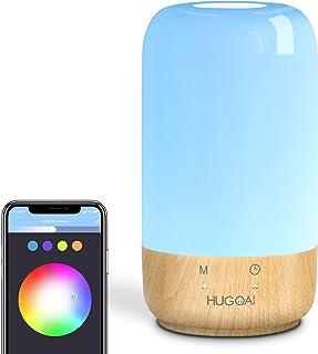 لامپ هوشمند ، لامپ میز HUGOAI با الکسا و گوگل هوم کار می کند ، لامپ های LED تخت خواب لمسی برای اتاق های خواب با چراغ های سفید کم نور و رنگ های پر جنب و جوش ، بدون توپی لازم است
