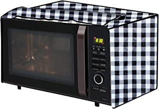 The Furnishing Tree Microwave Oven Cover for Samsung 32 L Convection CE117PC-B2/XTL Gingham Pattern Black & White
