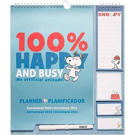 Grupo Erik 2020//2021 Wall CalendarMonthly PlannerSnoopy Family Organiser,