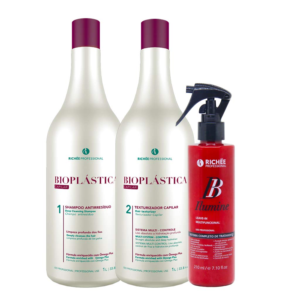 Richée Bioplástica Max 81% OFF Escova Progressiva Leve-in Free shipping / New Ilumine BB +