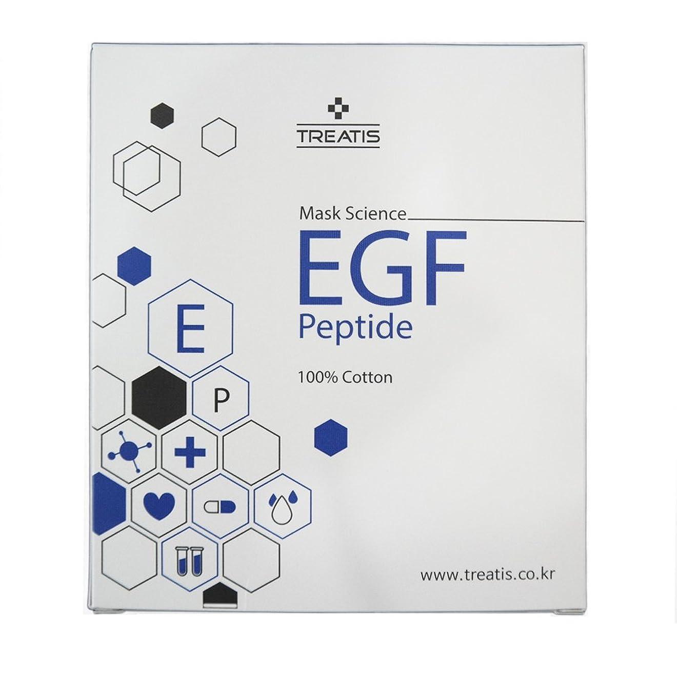 努力する驚かすワイヤー贈呈品ありTREATIS EGF PEPTIDE MASK PACK (10 Sheet) [並行輸入品]
