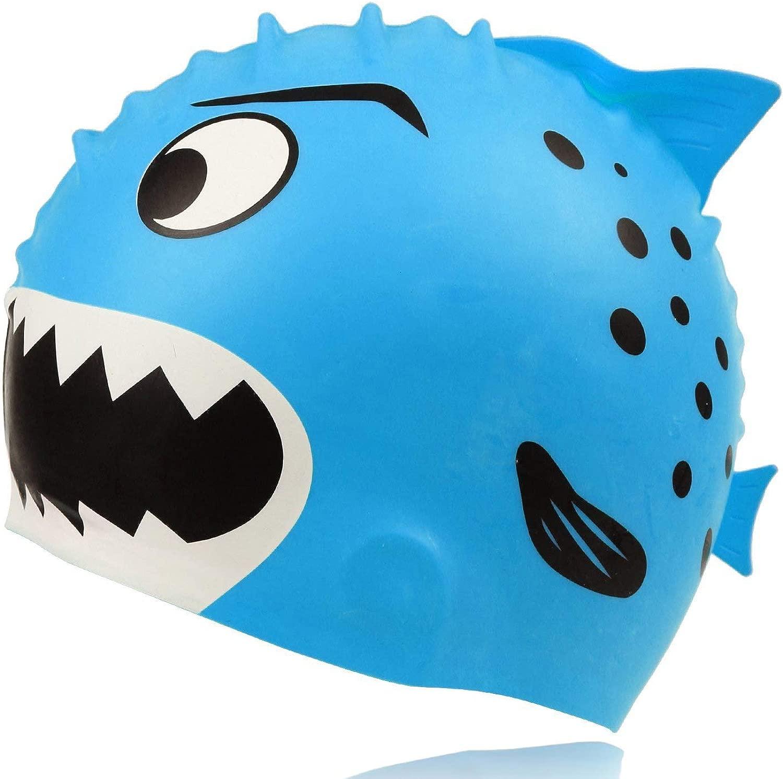 GGCACINO 水泳帽 子供 幼児用 楽しいデザイン 水泳帽 シリコン 防水 男の子 女の子用