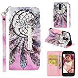 Bumper Case for Empire/Rebel 4 LTE/K8/K4/LG Aristo Phone Case,LG LV3 2018 Case,LG Risio 3 Case,LG Aristo 2 Plus Case,LG Phoenix 3 Case,Cute LG Tribute Dynasty Wallet Case with Card Holder Stand Strap