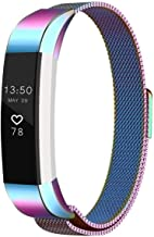 EEEKit Bands Metal Wristband Strap with Magnetic Closure Clasp for Fitbit Alta/Fitbit Alta HR Fitness Tracker