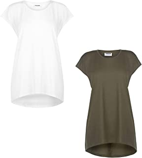 Noisy May Basic T-Shirt Womens Top Tee Shirt Casual Wear