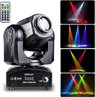 UKing 50W Cabeza Móvil LED Luz de Escenario con Remoto Control DMX 512 Foco Luces de la Etapa 8 Gobo 8 Colores Iluminación para DJ Discoteca KTV Boda Fiesta