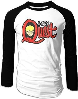 Men's Long Sleeve T Shirt Jonny Quest American Animated Series Graphic Colleges Raglan Baseball Jerseys