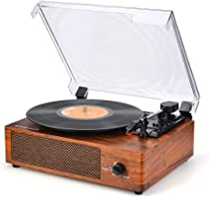 Record Player Vinyl Record Player Turntable Wireless Vintage Record Player Turntable for..