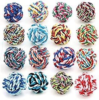 Dog toys,NNDA CO 1Pc Pet Puppy Dogs Knots Strengthen Teeth Rope Cottons Chews Toy Ball Play Fun(LARGE)
