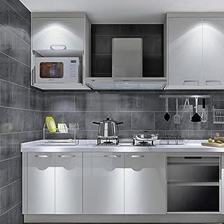 Pegatina de vinilo perlada, de 60 x 200 cm, para renovación de muebles, de EMVANV, gris claro, Tamaño libre
