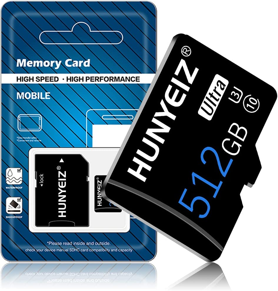 512GB Memory Card Class 10 Card Micro SD Card Compatible Computer Camera and Smartphone,TF Memory Card with a SD Card Adapter