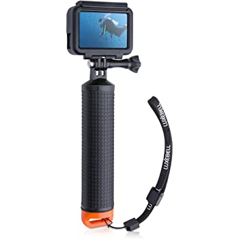 Luxebell Waterproof Floating Hand Grip, Pole Mount for Gopro Hero 8 7 6 5 Max Session 4 3+, Handle Mount Accessories for AKASO EK7000 V50 Pro Brave 4 Dragon Crosstour Campark DJI OSMO Action Camera