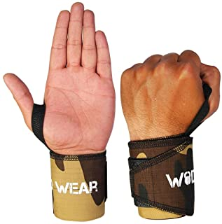 WOD Wear Wrist Wraps with Thumb Loop for Powerlifting, Strength Training, Bodybuilding, Cross Training, Olympic Weightlift...