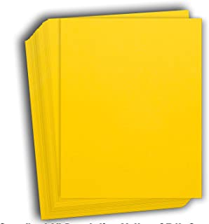 Cardstock 8.5x11 Lemonade Yellow Smooth Paper 65#