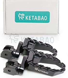 KETABAO Black 25mm Adjustable Highway BUZZ Front Foot Pegs For Ducati Carbon/Diavel 11-17