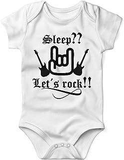 Mikalino Sleep  Let´s Rock ! Babybody Kurzarm blackprint