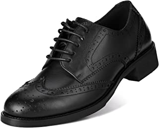Jivana Women's Casual Leather Shoes Oxford Brogue Lace-up