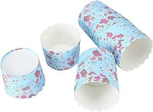 Tasse à papier à gâteau imperméable, 7x6x5.5cm en carton blanc 220