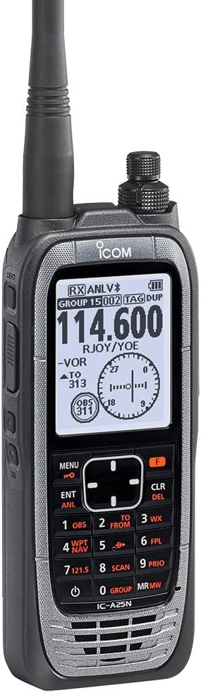 Icom IC-A25N VHF Airband Transceiver (NAV & COM channels)