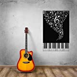 Wall Stickers Vinyl Decal Music Piano Sheet Music Lover Cool Design for Living Room i750