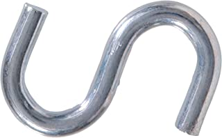 8 pk L Steel  20 lb National Hardware  Closed S-Hook  7//8 in
