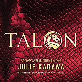 Talon     The Talon Saga, Book 1              By:                                                                                                                                 Julie Kagawa                               Narrated by:                                                                                                                                 Caitlin Davies,                                                                                        MacLeod Andrews,                                                                                        Chris Patton                      Length: 12 hrs and 32 mins     20 ratings     Overall 4.2