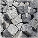 AUPROTEC Granit Pflastersteine 1t Naturstein 9/11 grau DIN EN 1342: 1000 kg