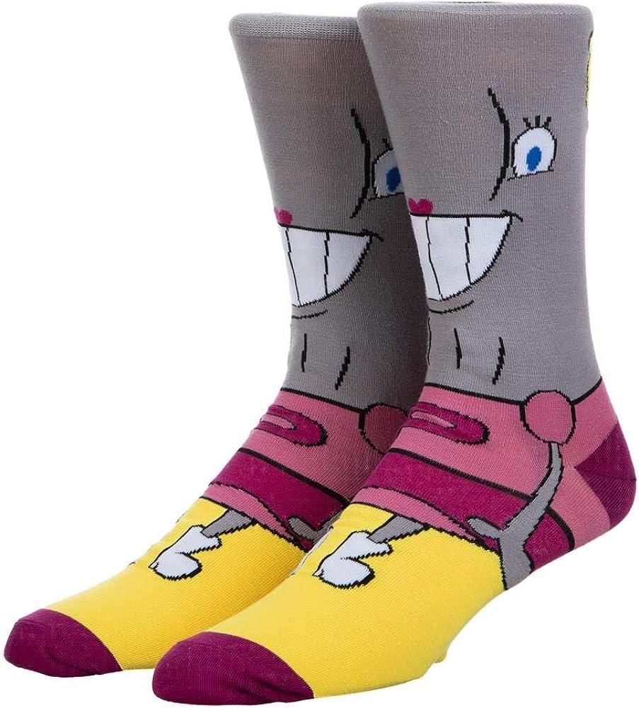 Spongebob Cartoon Pearl Mens 360 Character Crew Socks