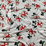 FS030_ 2weiss Weihnachten Schneemann Print dünn