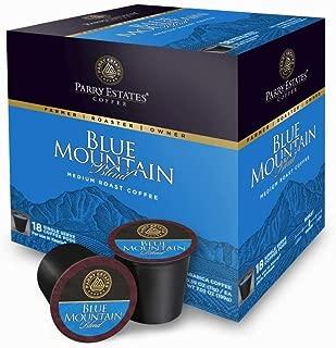 Blue Mountain Coffee Medium Roast Blend Single Serve Cups - 18 Count
