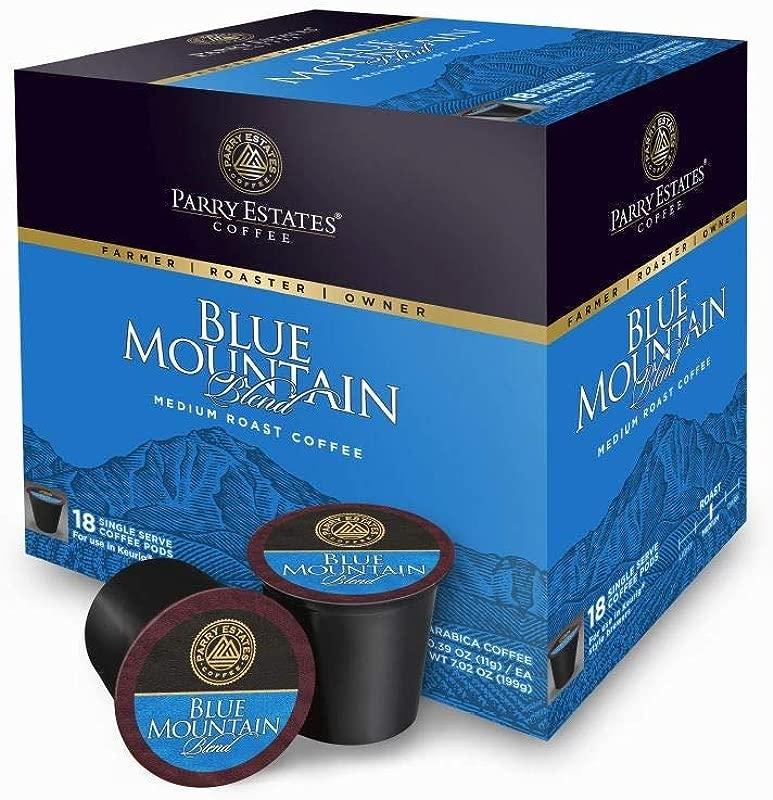 Blue Mountain Coffee Medium Roast Blend K Cups 18 Count Single Serve Cups