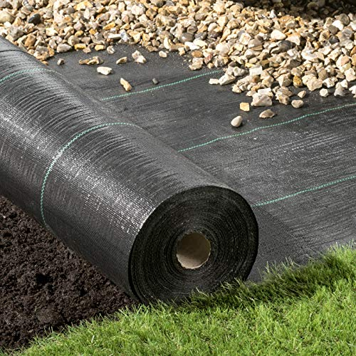 Pro-Tec 4m x 10m Heavy Duty 100g Weed Control Membrane Ground Cover...